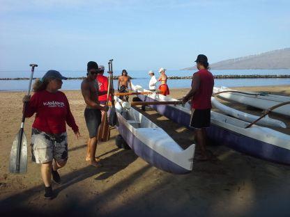 Voorbereiding voor een kanotocht